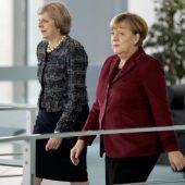 Erdogan zwischen Theresa May und Angela Merkel
