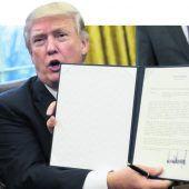 US-Präsident Trump kündigt den Handelspakt TPP auf
