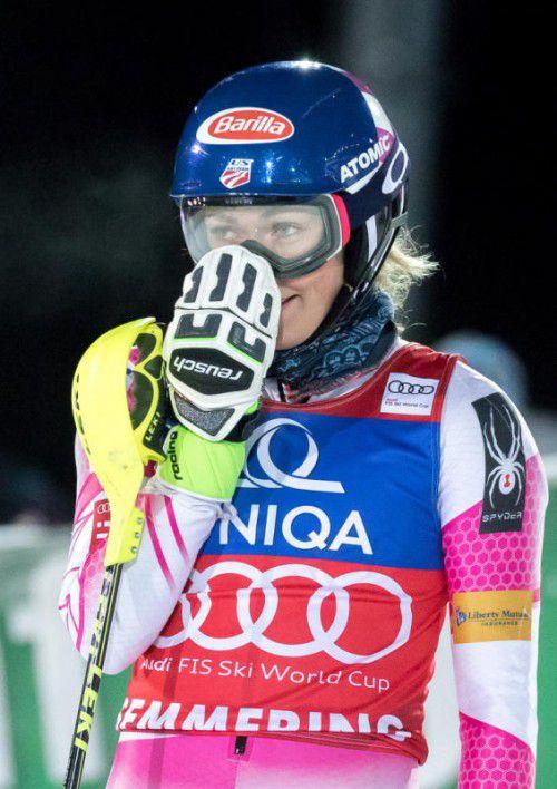 Vieles deutet darauf hin, dass Mikaela Shiffrin auch in Zagreb wieder einen Grund für ihr verschmitztes Siegerlächeln haben wird.  Foto: GEPA