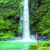 Viele tosende Wasserfälle