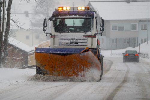 Für die Schneeräumung sind die Gemeinden verantwortlich. VN/HB