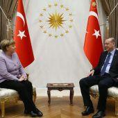 Merkel traf Erdogan