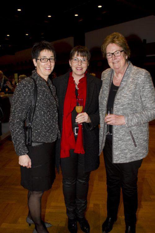 Angelika Baur (l.), Christine Fischer-Kaizler, Marlies Müller.