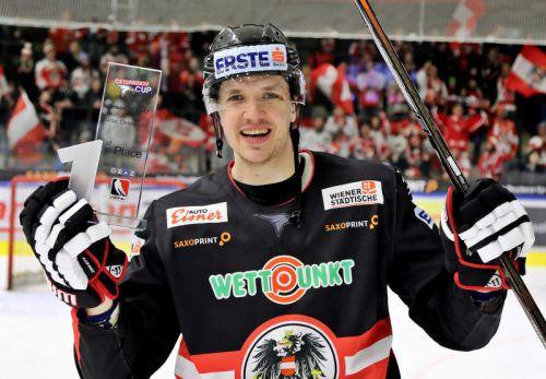 Daniel Woger war mit drei Treffern der beste Turnier-Torschütze beim Österreich-Cup in Graz. Foto: gepa
