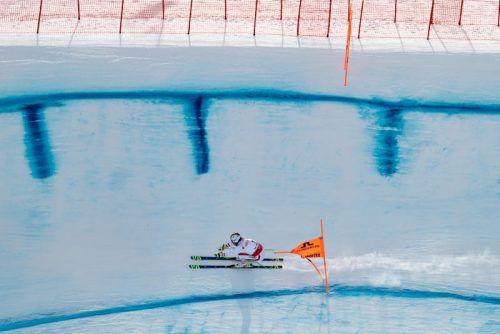 Der Österreicher Hannes Reichelt im Abfahrtstraining in St. Moritz.  Foto: apa