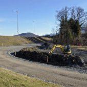 Neue Zufahrt zur Kontrolle der Rheindämme