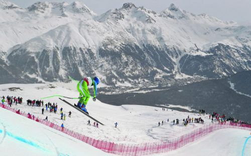 Die Slowenin Ilka Stuhec war auf der WM-Abfahrt nicht zu schlagen. Sie holte sich souverän die Goldmedaille vor der Tirolerin Stephanie Venier. Foto: Gepa