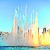 150 Meter hohe Wasserspiele