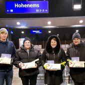 Hohenemser Winterradler vom e5-Team beschenkt