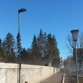Fußweg in Feldkirchs Innenstadt beleuchtet