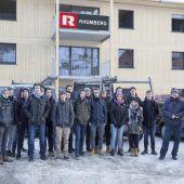 HTL-Schüler auf Baustellenbesuch