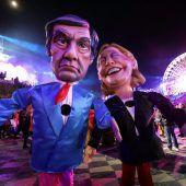 Frankreichs Präsidentschaftskandidaten Fillon und Le Pen Thema bei Karnevalsumzug in Nizza