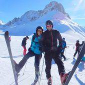 Die Indians machten eine gute Figur auf Skiern