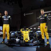 Renaults neuer Formel-1-Wagen in London vorgestellt