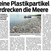 Meere ersticken in Plastik