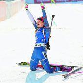 Koukalova stürmte zu Sprint-Gold