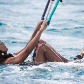 Obama und Branson lernen Kitesurfen