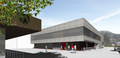 So wird die neue Halle aussehen. Die Fertigstellung soll bis Oktober erfolgen.