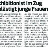 Junger Sittenstrolch in Bregenz ausgeforscht