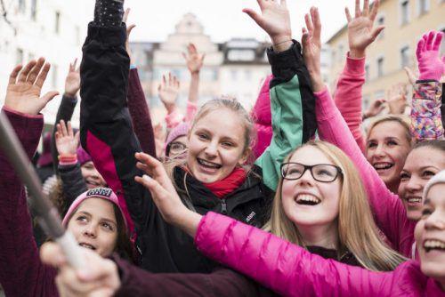 Vorarlberg unterstützt die Aktion mit einem Flashmob am Kornmarktplatz in Bregenz. Foto: Veranstalter