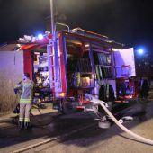Brand in Feldkirch-Tisis wurde rasch gelöscht