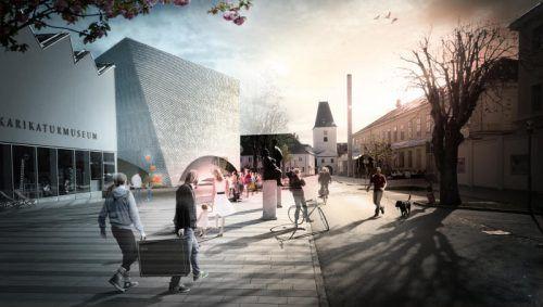 Beim Bau der Landesgalerie Niederösterreich wurden archäologische Funde gemacht. Die Verzögerung hält sich in Grenzen.  Foto: LG