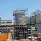 In Lustenau wächst ein Turm in die Höhe