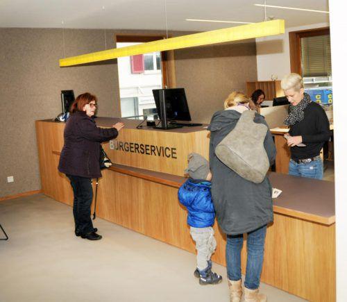 Die neue Bürgerservicestelle im Gemeindeamt Höchst. Foto: ajk