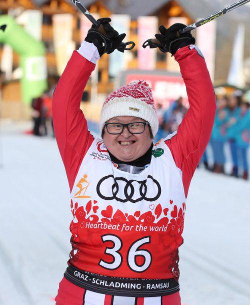 Die Tschaggunserin Melitta Olipic holte Gold im Langlauf.