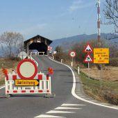 Sender-Holzbrücke bleibt bis Freitag zu