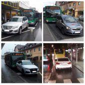 Bludenzer Busfahrer gehen gegen Parksünder vor