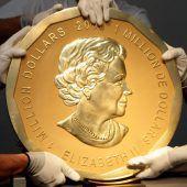 Riesen-Goldmünze aus Museum geraubt