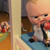 Ein Baby mit Schlips und Kragen