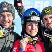 Goldtag für Snowboarder