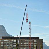 Baustart für Heli-Landeplatz in Dornbirn