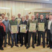 Handwerkerzunft ehrte langjährige Mitglieder