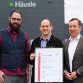 Häusle Lustenau erneut ISO-zertifiziert
