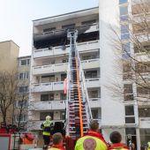 Flammen in Feldkircher Hochhaus