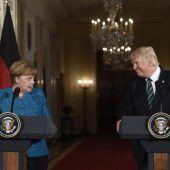 Trump und Merkel suchen nach Gemeinsamkeiten