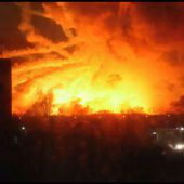 Großbrand in Munitionslager