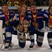 Ein Ländle-Quartett holte sich mit dem HC Davos den Meistertitel