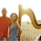 Die Band mit der Harfe