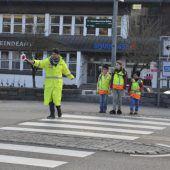 Sicherheit im Verkehr für die Schüler in Egg