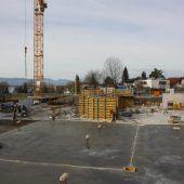 Erste Wände für Gemeindehaus in Lochau
