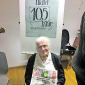 Einfach das Allerbeste zum 105. Geburtstag