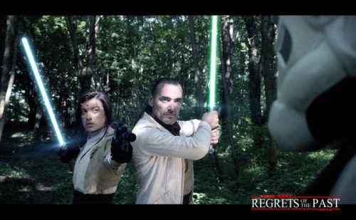 "Joe Baumgartner als Jedi-Ritter ""Pash Sularen"" im Film ""Regrets of the Past"".  Foto: Privat"