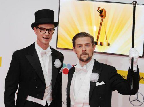 """Joko und Klaas wollen die """"Goldene Kamera"""" behalten.  Foto: RTS"""