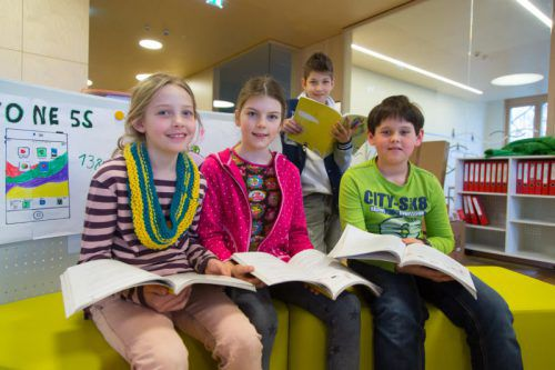 Lernen, Lesen, Freizeit: In einer Ganztagsschule muss alles Platz haben. Foto: VN/Hofmeister