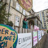 Protestaktion gegen Projekt in Lochau