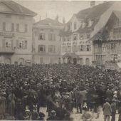 Dornbirner stürmten Güterzug mit Vieh